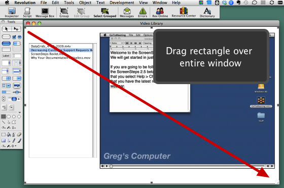 Drag Rectangle on Stack
