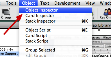 Select Object > Object Inspector