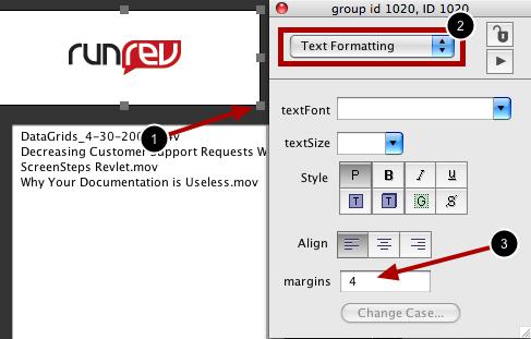 Set Margins of Group to 0