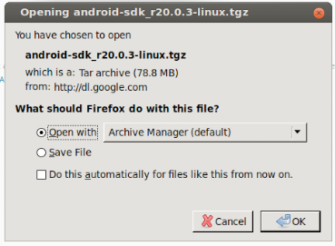 Downloading the Android SDK