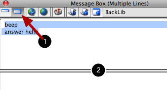 MB command line multi-line (script) mode (tab 2)