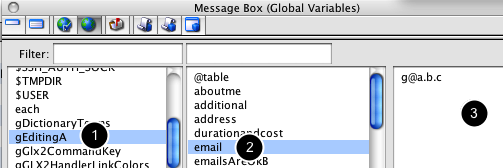 Exploring the MB (tab 4): Global variables - arrays