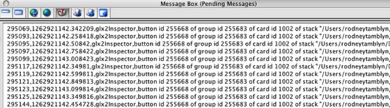Exploring the MB (tab 5): Pending messages