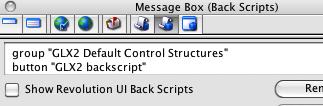 Exploring the MB (tab 7): Backscripts
