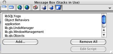 Exploring the MB (tab 8): Librarystacks/ stacks in use