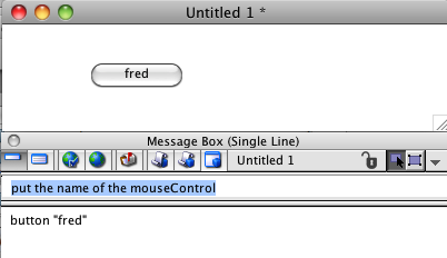 Message box - using command intelligence to access an object's properties
