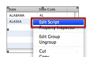 Edit Data Grid Script