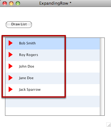 Expanding and Contracting Rows