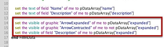 Updating the Row Behavior Script