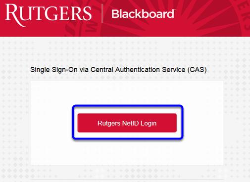 """Click """"Rutgers NetID Login."""""""