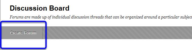 Click Create Forum.