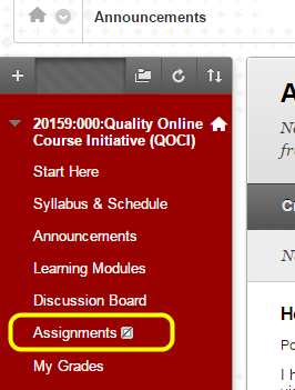 Navigate to where you want the Discussion Board link to appear in your course (e.g., Assignments, Learning Modules).
