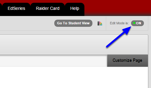 Check that Edit Mode to On. If it is not on, click on the option at the top right of the window.
