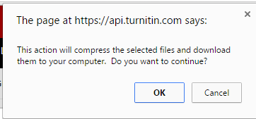 Select OK when you are asked if you would like to continue.