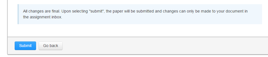 When the message appears saying that the change is final, click Submit.