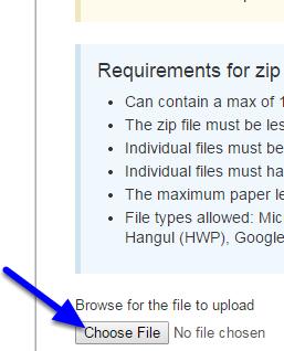 Click Choose File.