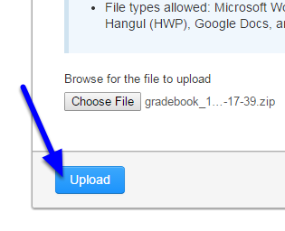 Click Upload.