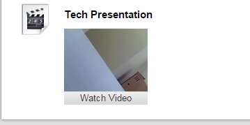 Your media has been added. Students can click on Watch Video to watch the video, listen to the audio recording, or review your photo.