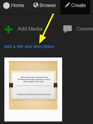 Click Add a title and description.