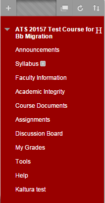Click on the section of your course where you would like to add an item.
