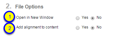 """If you would like to """"Add alignment to content,"""" click Yes."""