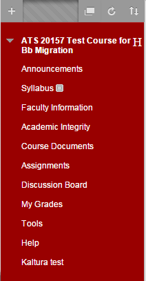 Click on the section of your course where you would like to add a blank page.