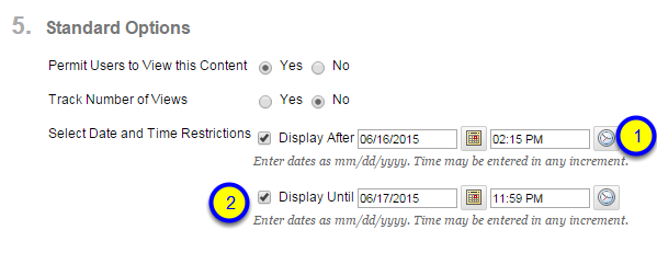 Click the box next to Display Until and enter the date and time that the image will no longer be available to students.