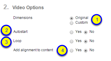 """If you would like to """"Add alignment to content,"""" click on the button next to Yes."""