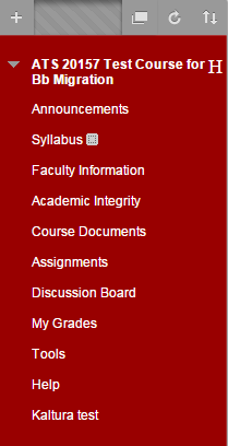 Click on the area in the course menu where you would like to post your syllabus.