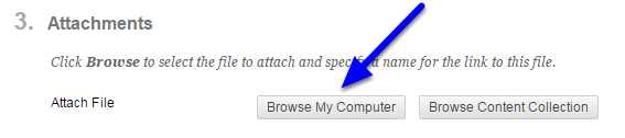 """OPTIONAL: Click on """"Browse My Computer """" to upload any additional files."""