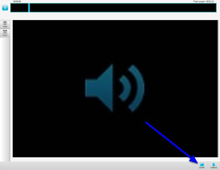 Once you are finished reviewing and editing your presentation, click on the Done icon at the lower right hand side of your screen.