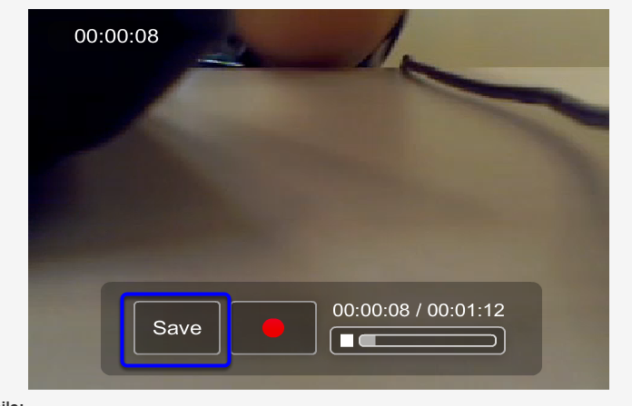 Once you are satisfied with your recording, click Save.