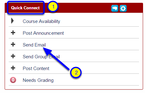 Look for the Quick Connect module and click on Send Email.