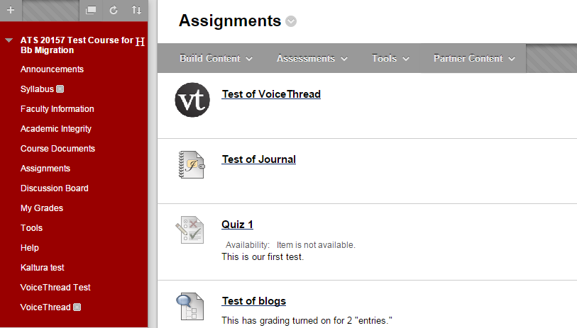 Go to where in your course you would like to add your graded VoiceThread assignment.