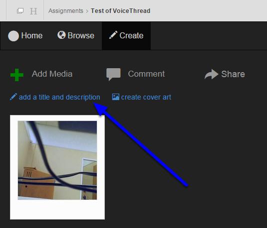 """Click """"add a title and description."""""""