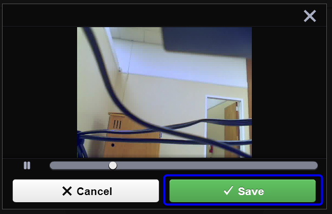 Once you have reviewed your video, click Save.