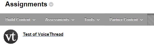 Locate your VoiceThread in Blackboard.