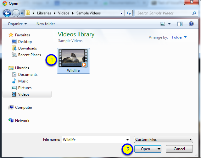 Select the file you would like to upload as a comment, and click Open.