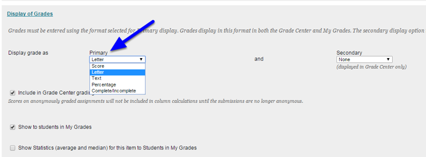 Complete/Incomplete will display either of the those two options that you enter.