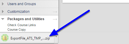 Your export file will begin to download as a zip file.