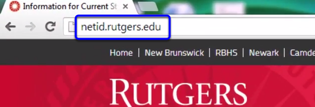 On the web, go to netid.rutgers.edu to get to the NetID Management website.