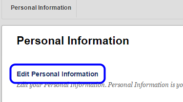 Click Edit Personal Information.