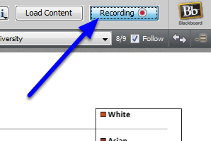 When you are finished recording, click the Recording button.