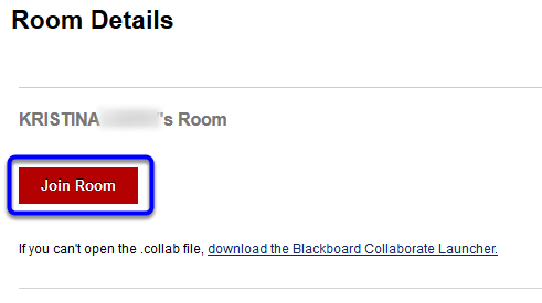 In the Room Details page, click Join Room.