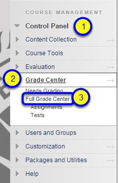 """Click on """"Full Grade Center."""""""