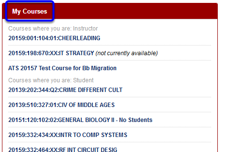 On your home page, navigate to your My Courses module.