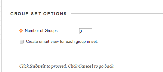 Scroll down and enter the number of groups you would like.