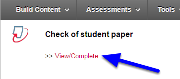 "Click ""View/Complete"" for the assignment you just created."