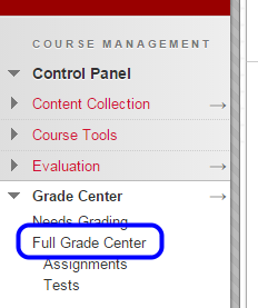 "Click ""Full Grade Center."""
