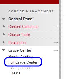 """Click """"Full Grade Center."""""""